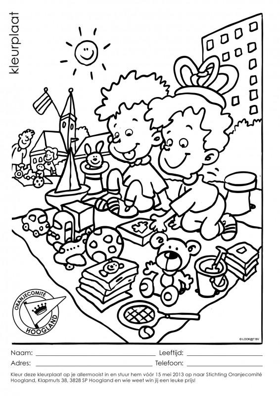 kleurplaat insturen voor 15 mei 2013 oranjecomite hoogland