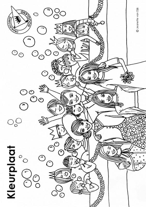 Kleurplaten Om Uit Te Printen.Kleurplaat Oranjecomite Hoogland